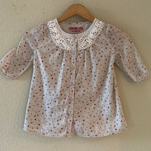 Oshkosh Floral Lace Top - size Small 6/6x